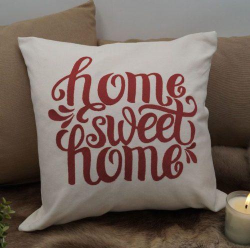 Cojín bordado home sweet home