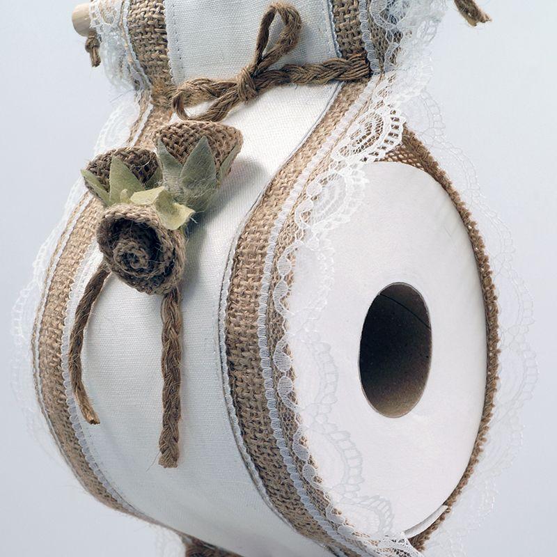 Porta rollos papel higiénico lino